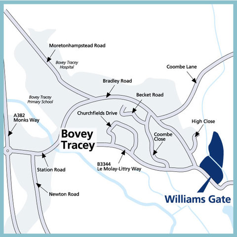 Williams gate in Bovey Tracey