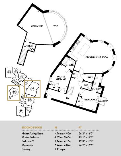 The Cambridge, Second Floor - Plot 89