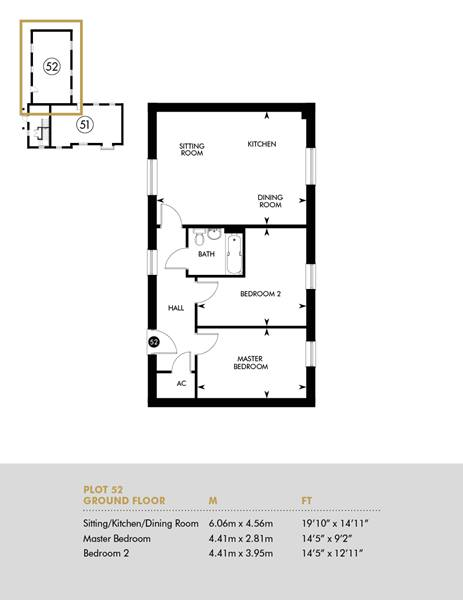 Discounted Open Market, Plot 52 FloorPlan