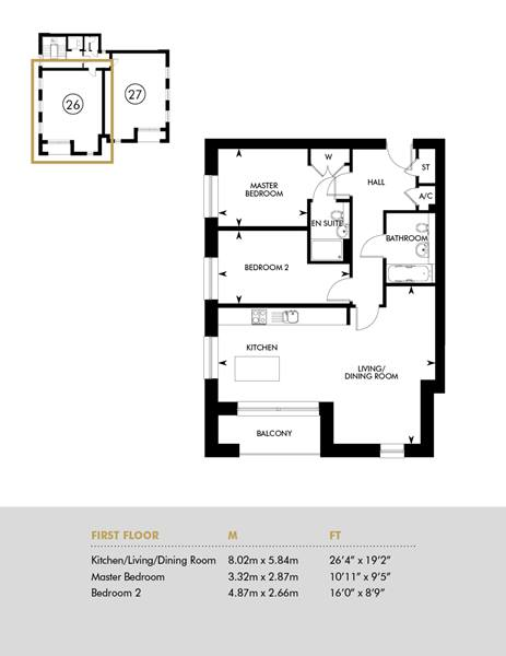 The Ellis - Aria Apartments - First Floor, First Floor