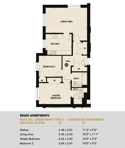 Plot 82 - Pentland Apartments, Plot 82