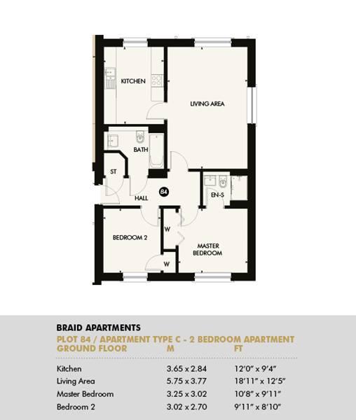 Plot 84 - Pentland Apartments, Plot 84
