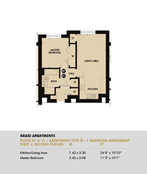 Plot 91 - Pentland Apartments, Plot 91
