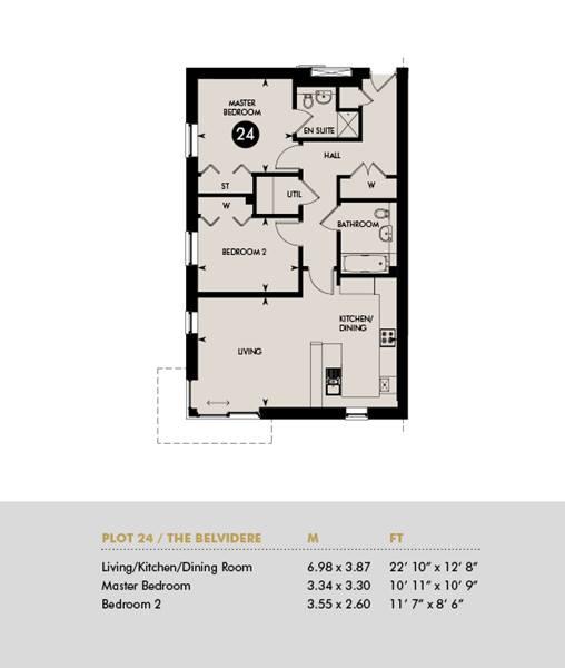 The Belvidere, Ground Floor - Plot 24