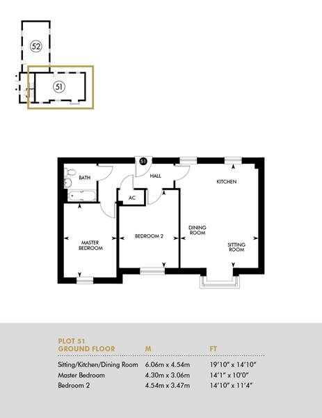 The Rise Ground Floor Apartment, Plot 51 Floorplan
