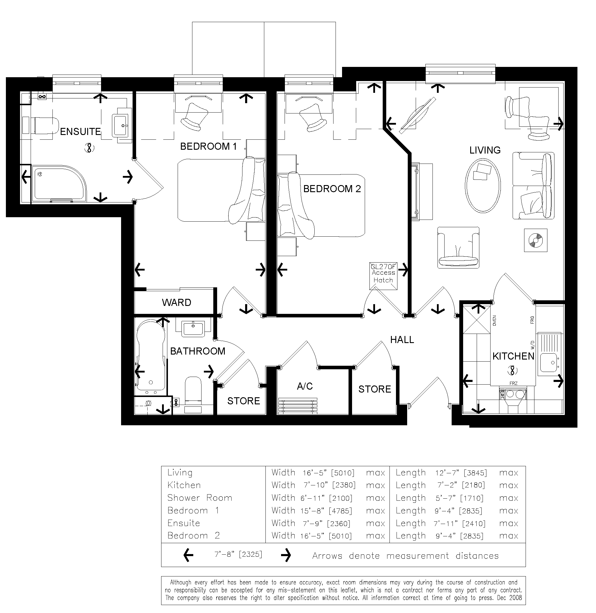 2 bedroom retirement apartment in waterlooville new homes for Apartment design guide part 4