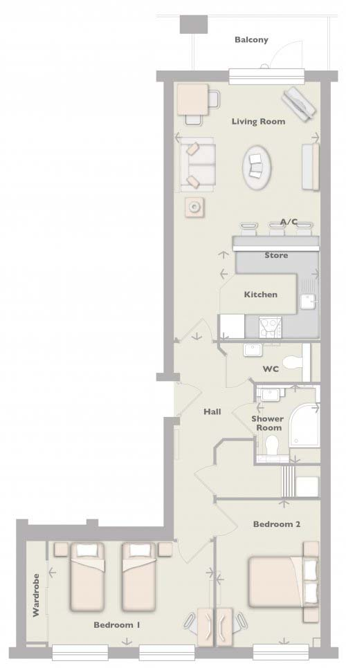 2 bedroom retirement apartment in penzance new homes for Apartment design guide part 2