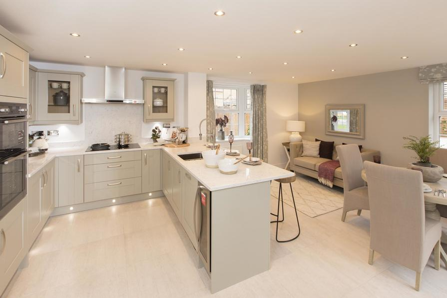 Earlswood kitchen with family/breakfast area