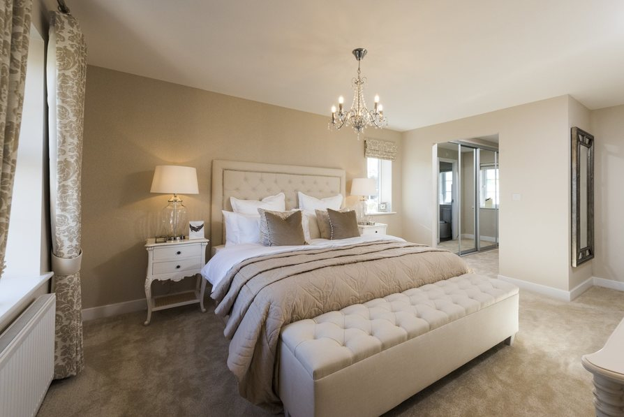Master bedroom with dressing area