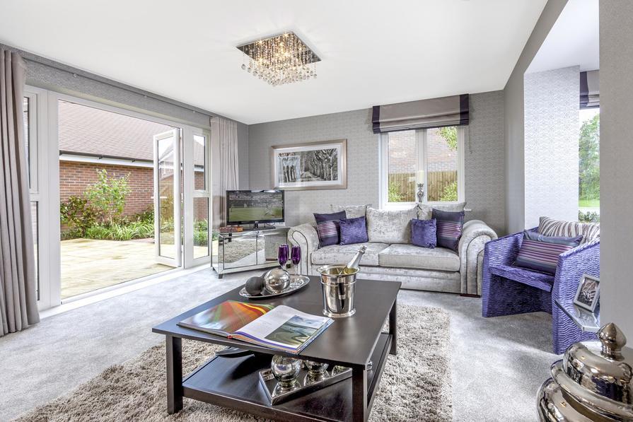 The Layton living room