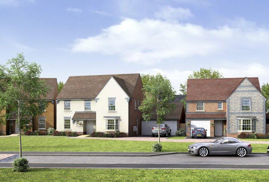 Street scene at Millford Grange, Storrington