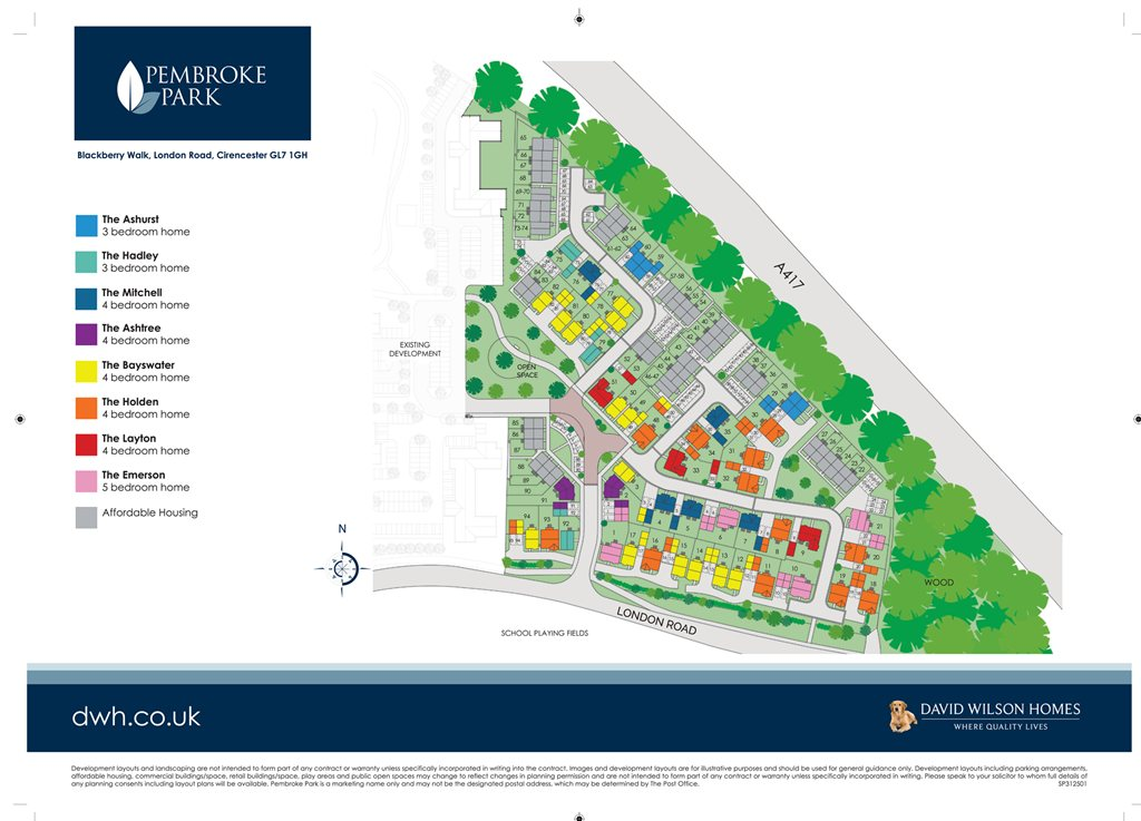 Pembroke Park In Cirencester Is Built By David Wilson Homes
