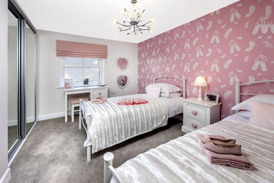 Moorecroft double bedroom at Spireswood Grange