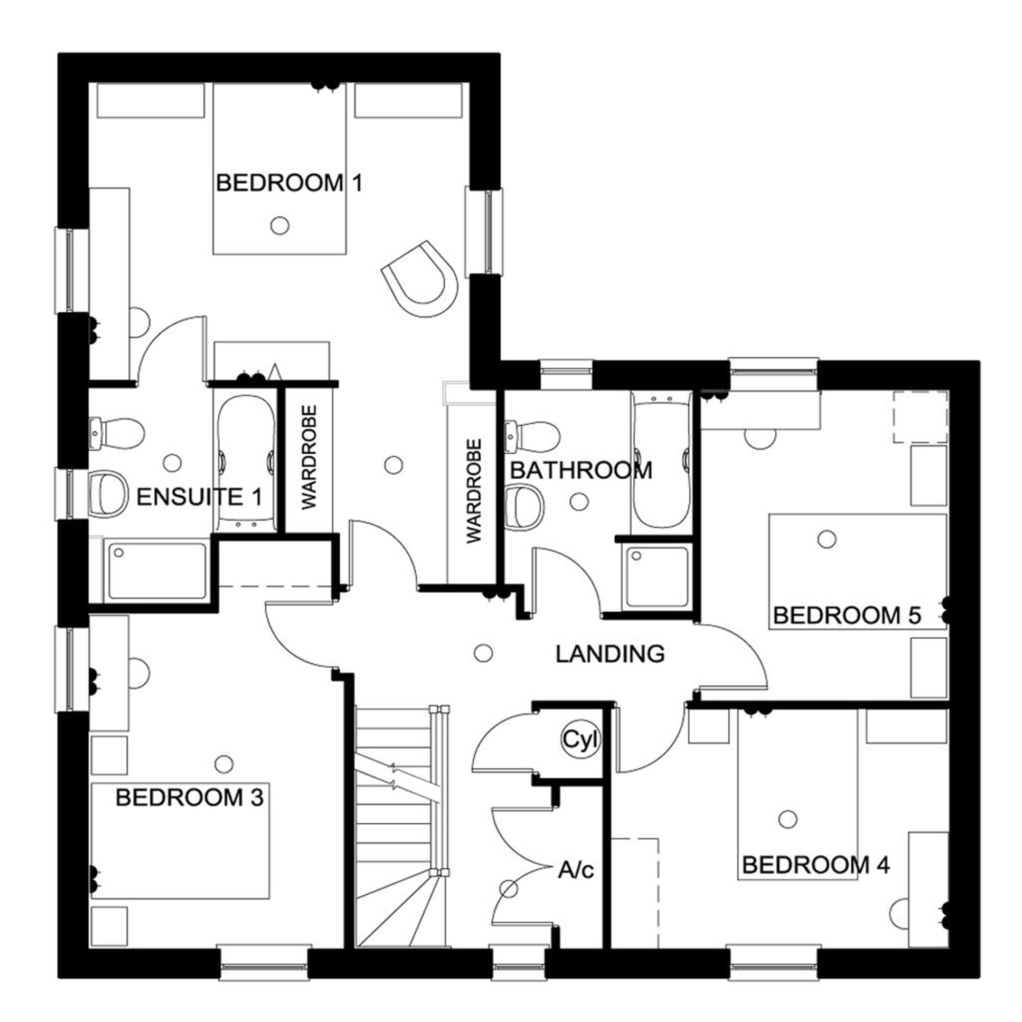 5 bedroom house in wick new homes for David james homes floor plans