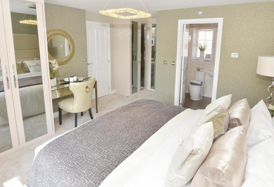 Master bedroom with en suite and dressing area