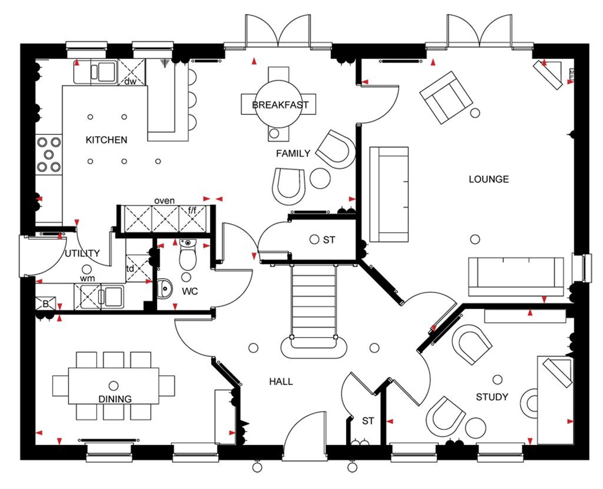 David wilson homes chelworth floor plan for David homes floor plans
