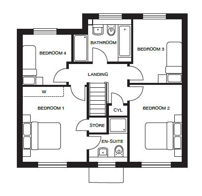 <p><strong>First Floor</strong></p><p><strong>Please refer to brochure for individual room dimensions</strong></p>