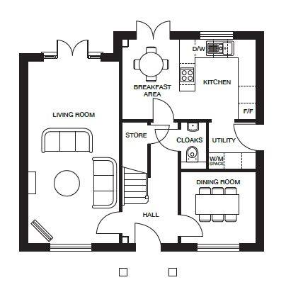 <p><strong>Ground Floor</strong></p><p><strong>Please refer to brochure for individual room dimensions</strong></p>