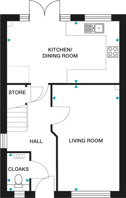 """<p><strong>Lansdown Ground Floor</strong></p><p>GROUND FLOOR<br>Kitchen/Dining Room 5244mm x 2860mm (max) 17'2"""" x 9'4"""" (max)<br>Living Room 2870mm x 4980mm (max) 9'5"""" x 16'4"""" (max)<br>Cloaks 1000mm x 1750mm (max) 3'3"""" x 5'8"""" (max)</p>"""