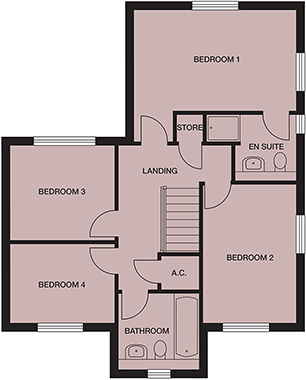 <p><strong>First Floor</strong></p><p><strong>Bedroom 1</strong> <br>4460mm x 3703mm<br>14&#39;7&quot; x 12&#39;1&quot;</p> <p><strong>Ensuite</strong> <br>2496mm x 1943mm<br>8&#39;2&quot; x 6&#39;4&quot;</p> <p><strong>Bedroom 2</strong> <br>2722mm x 3918mm<br>8&#39;11&quot; x 12&#39;10&quot;</p> <p><strong>Bedroom 3</strong> <br>3058mm x 2634mm<br>10&#39; x 8&#39;7&quot;</p> <p><strong>Bedroom 4</strong> <br>3058mm x 2187mm<br>10&#39; x 7&#39;2&quot;</p> <p><strong>Bathroom</strong> <br>2102mm x 2075mm<br>6&#39;10&quot; x 6&#39;9&quot;</p> <p>Store - 775mm x 805mm</p> <p>2&#39;6&quot; x 2&#39;7&quot;</p>
