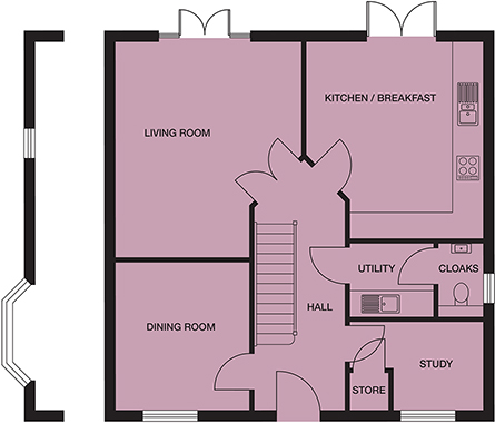 <p><strong>Ground Floor</strong></p><p><strong>Kitchen/ Breakfast Room</strong> <br>3886mm x 4372mm<br>12&#39;9&quot; x 14&#39;4&quot;</p> <p><strong>Living Room</strong> <br>4136mm x 4809mm<br>13&#39;6&quot; x 15&#39;9&quot;</p> <p><strong>Dining Room</strong> <br>2950mm x 3274mm<br>9&#39;8&quot; x 10&#39;8&quot;</p> <p><strong>Utility</strong> <br>1860mm x 1701mm<br>6&#39;1&quot; x 5&#39;7&quot;</p> <p><strong>Cloakroom</strong> <br>963mm x 1701mm<br>3&#39;2&quot; x 5&#39;7&quot;</p> <p><strong>Study</strong> <br>2911mm x 1922mm<br>9&#39;6&quot; x 6&#39;3&quot;</p> <p><strong>Store</strong> <br>763mm x 768mm<br>2&#39;6&quot; x 2&#39;6&quot;</p>