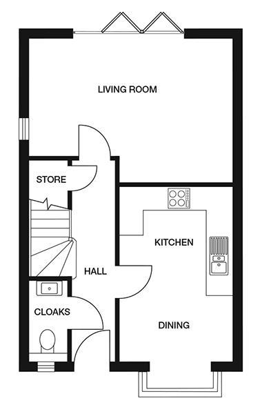 <p><strong>Ground Floor</strong></p><p><strong>Kitchen/ Diner</strong><br>2754mm x 4305mm<br>9&#39;7&quot; x 14&#39;1&quot;</p> <p><strong>Living Room</strong> <br>4900mm x 3569mm<br>16&#39;1&quot; x 11&#39;8&quot;</p> <p><strong>Cloakroom</strong> <br>870mm x 1960mm<br>2&#39;10&quot; x 6&#39;5&quot;</p> <p><strong>Store</strong> <br>873mm x 854mm<br>2&#39;10&quot; x 2&#39;9&quot;</p>