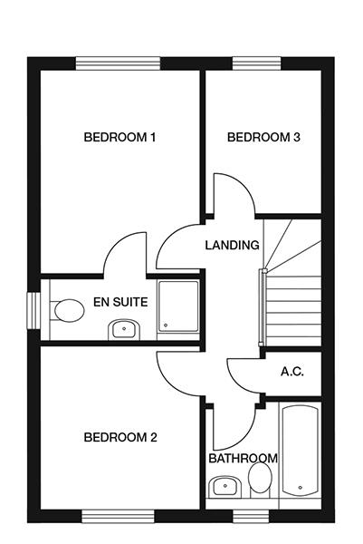 <p><strong>First Floor</strong></p><p><strong>Bedroom 1</strong> <br>2871mm x 3575mm<br>9&#39;5&quot; x 11&#39;8&quot;</p> <p><strong>En-suite</strong> <br>2871mm x 1270mm<br>9&#39;5&quot; x 4&#39;2&quot;</p> <p><strong>Bedroom 2</strong> <br>2871mm x 2936mm<br>9&#39;5&quot; x 9&#39;7&quot;</p> <p><strong>Bedroom 3</strong> <br>2078mm x 2579mm<br>6&#39;9&quot; x 8&#39;5&quot;</p> <p><strong>Bathroom</strong> <br>2078mm x 1907mm<br>6&#39;9&quot; x 6&#39;3&quot;</p> <p><strong>Store</strong> <br>979mm x 1009mm</p> <p>3&#39;2&quot; x 3&#39;3&quot;</p>