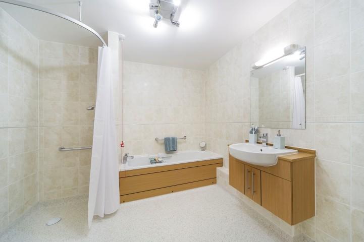 Typical guest suite bathroom