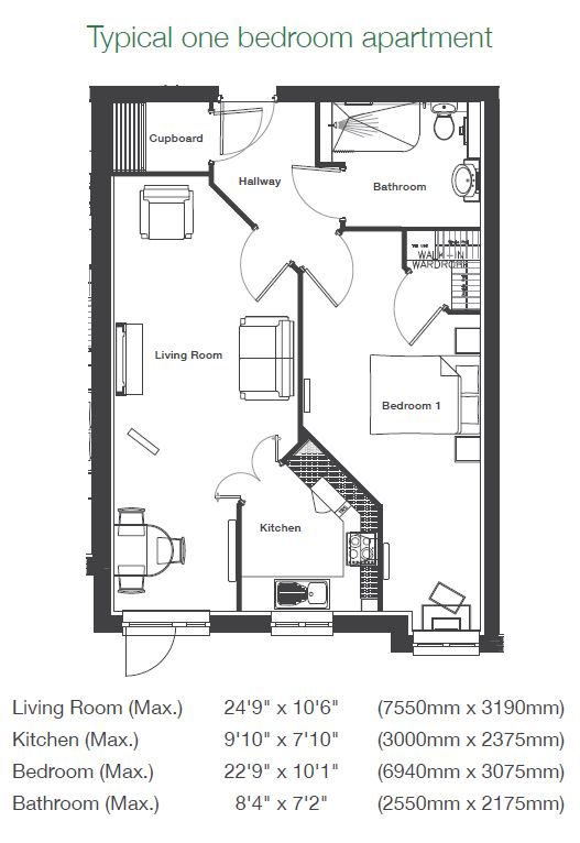 Brunlees Court - 1 Bedroom