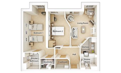 Typical 2 bedroom - Plot 62300