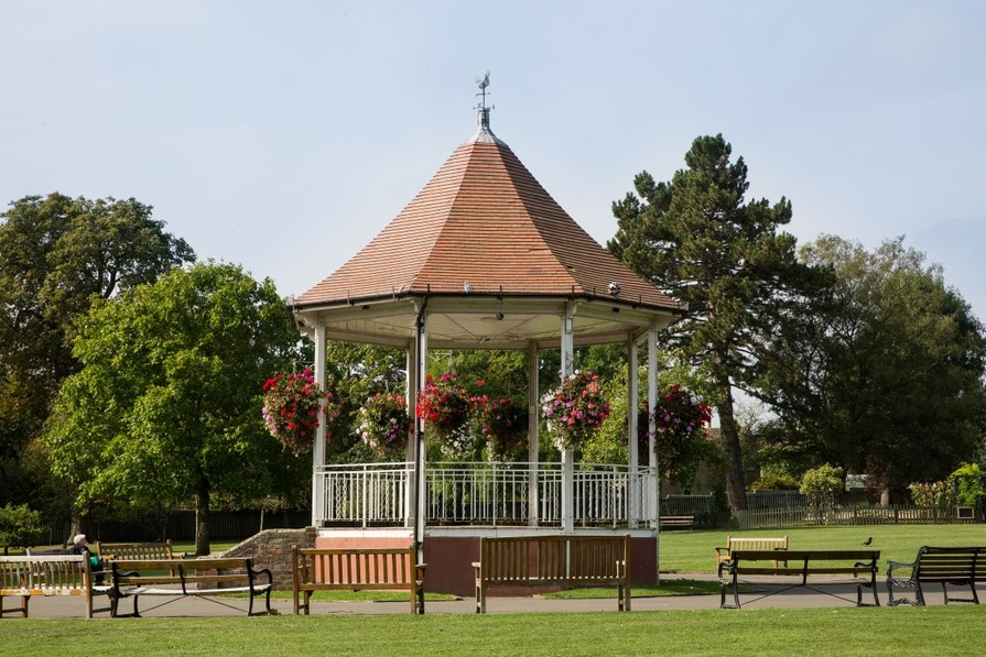 The bandstand in John Coles Park