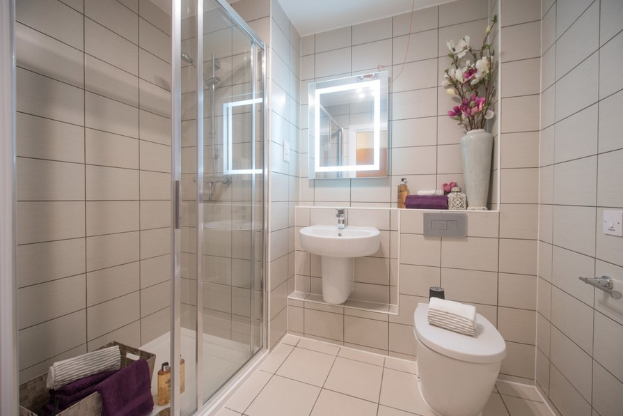 Two Bedroom Show Apartment - Shower Room