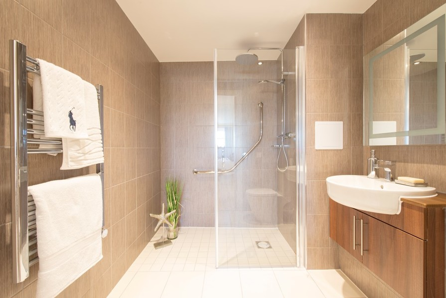Typical shower room