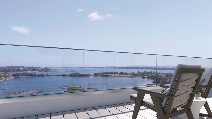 Artist impression - view from apartment 61