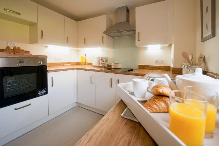 2 bedroom show apartment kitchen