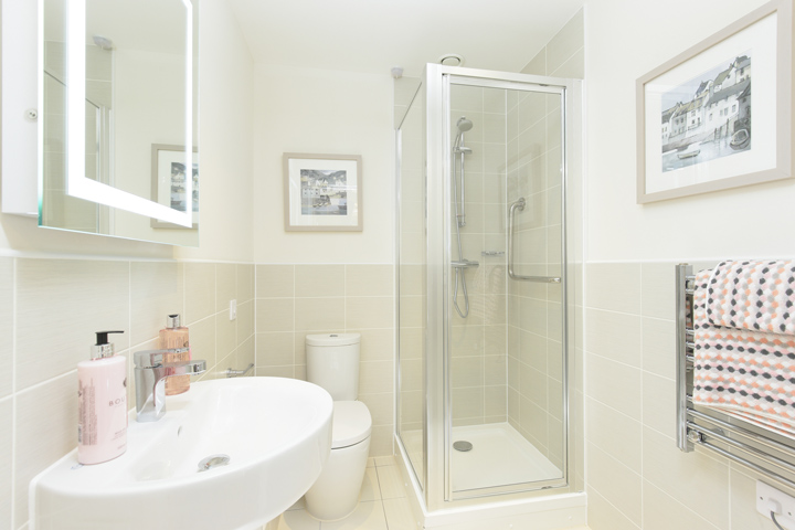 Typical second shower room