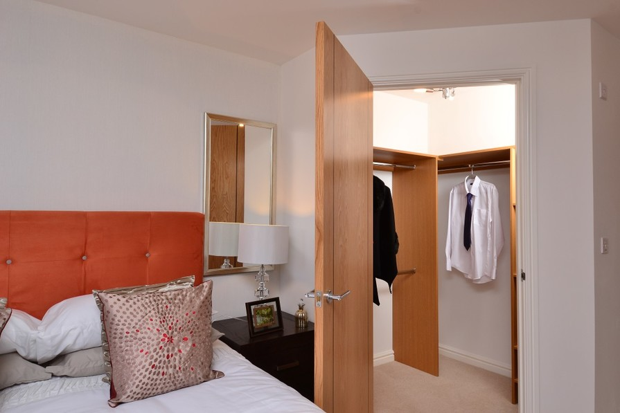 Bedroom with walk in wardrobe