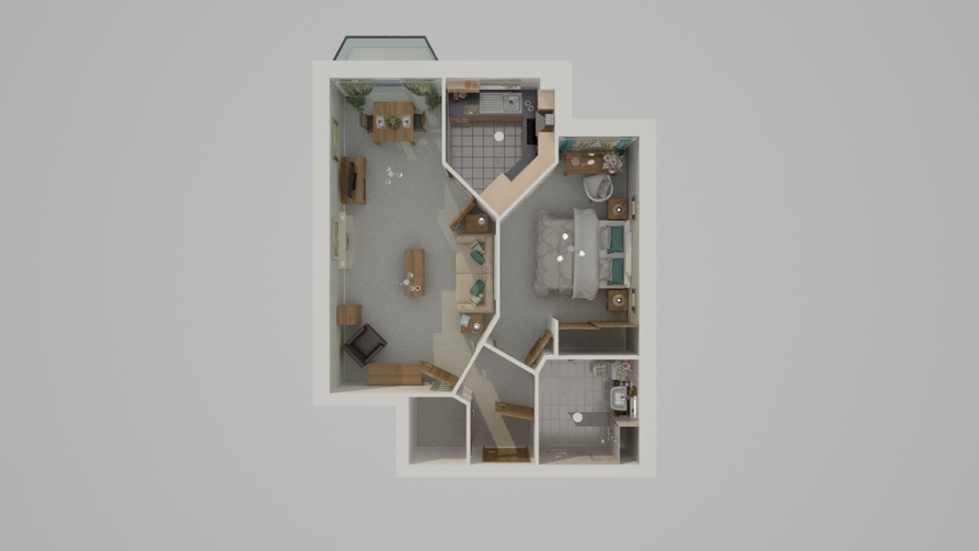 Typical One Bed Floor Plan