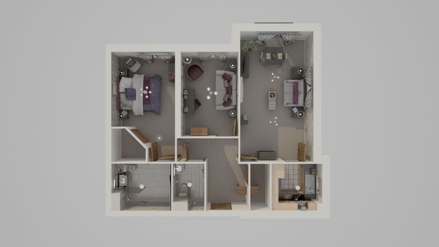 Typical Two Bed Floor Plan