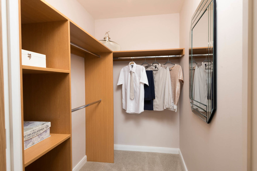 Typical walk in wardrobe