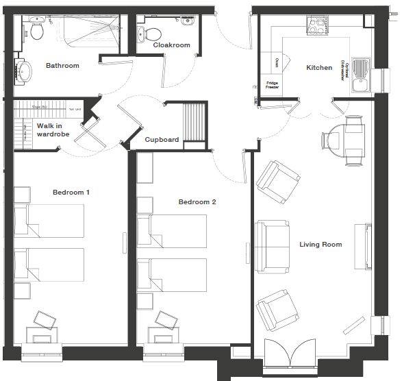 Typical 2 bedroom