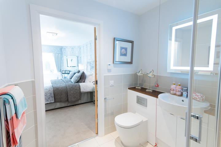 Typical en suite shower room