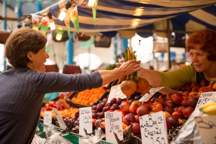 Abergavenny's famous produce market