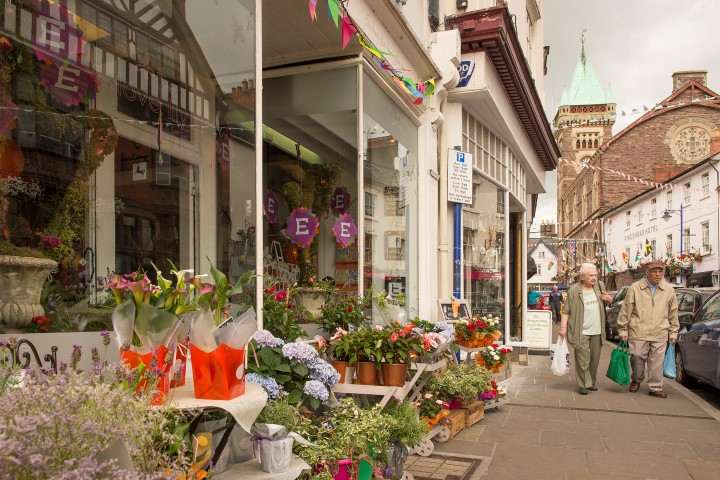 Boutique shops in the town centre