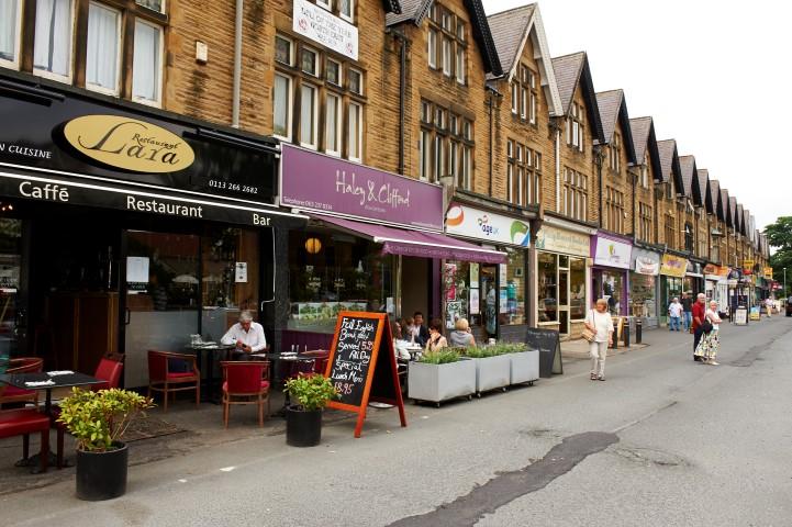 Local cafe's on Street Lane