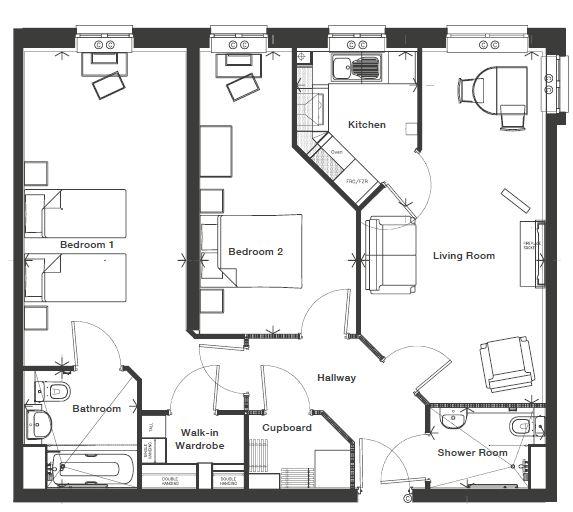 Ryebeck Court - 2 Bedroom