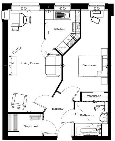 Ryebeck Court - 1 Bedroom