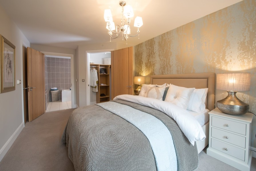 Sanderson Court, Two Bedroom Show Apartment Master Bedroom