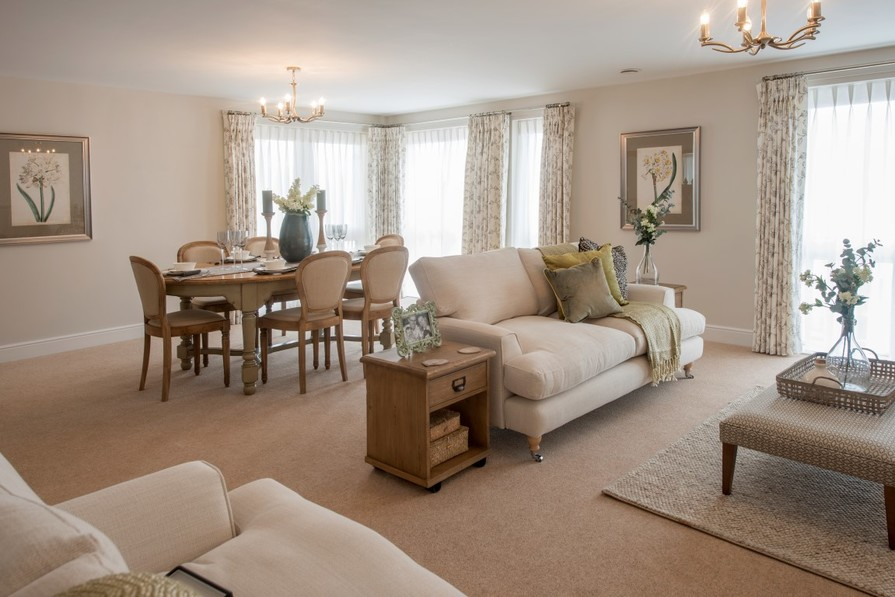 Sanderson Court, Three Bedroom Show Apartment Lounge