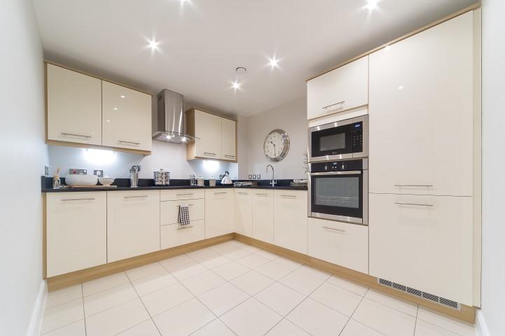 Sanderson Court, Three Bedroom Show Apartment Kitchen